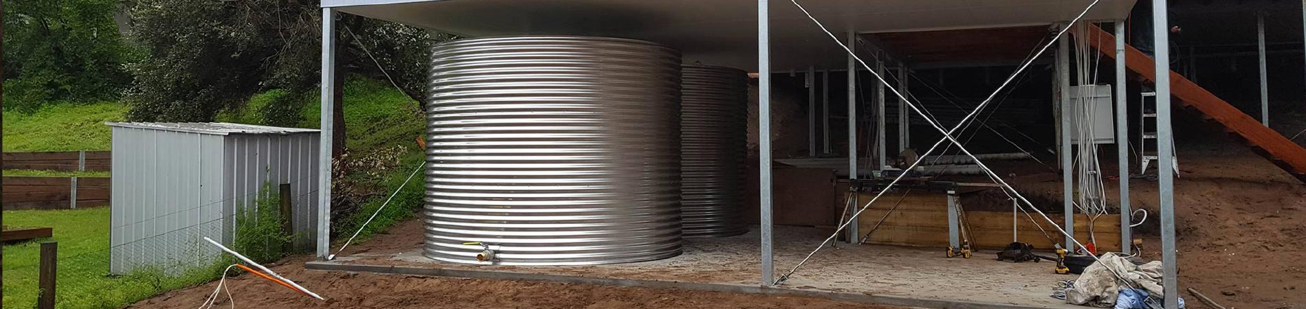 Grade 304 stainless steel water tanks