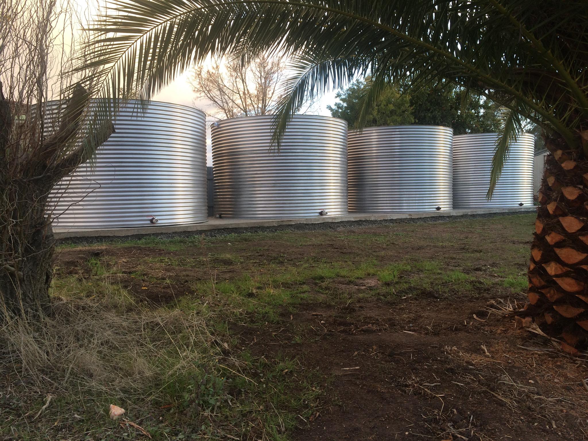 Stainless steel rainwater tanks